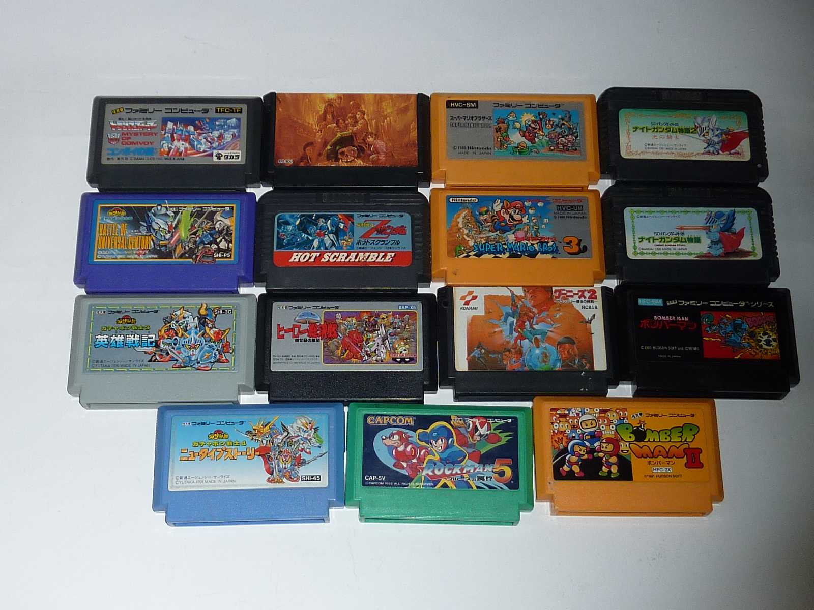 [FC] Rockman 5 + Bomber man 2 etc... (15 games Set) Loose