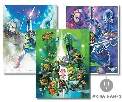 The Legend Of Zelda 25th Anniversary Club Nintendo Poster RARE Set (NEW)
