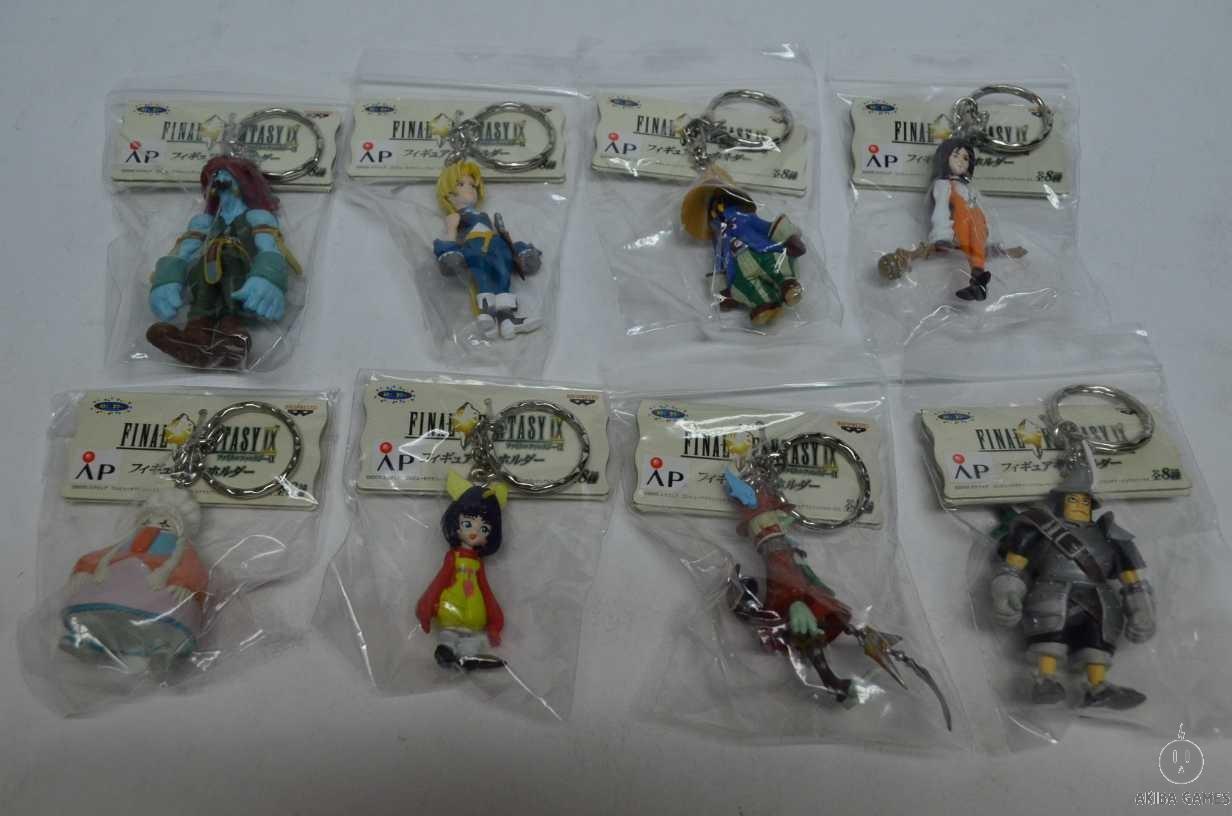 Final Fantasy IX Banpresto Figure Keyholder Full Set Collection (NEW)+Pencil Top