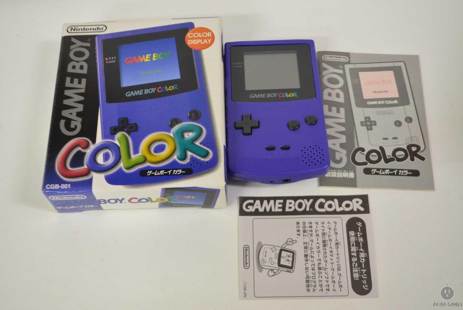 [GB] Console Nintendo Game Boy Color Purple CGB-001 System (VGC)