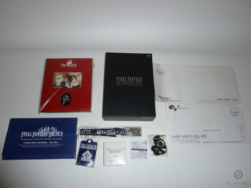 Final Fantasy The Adventure Bible DVD Box Famitsu Limited...etc FF Goods Set
