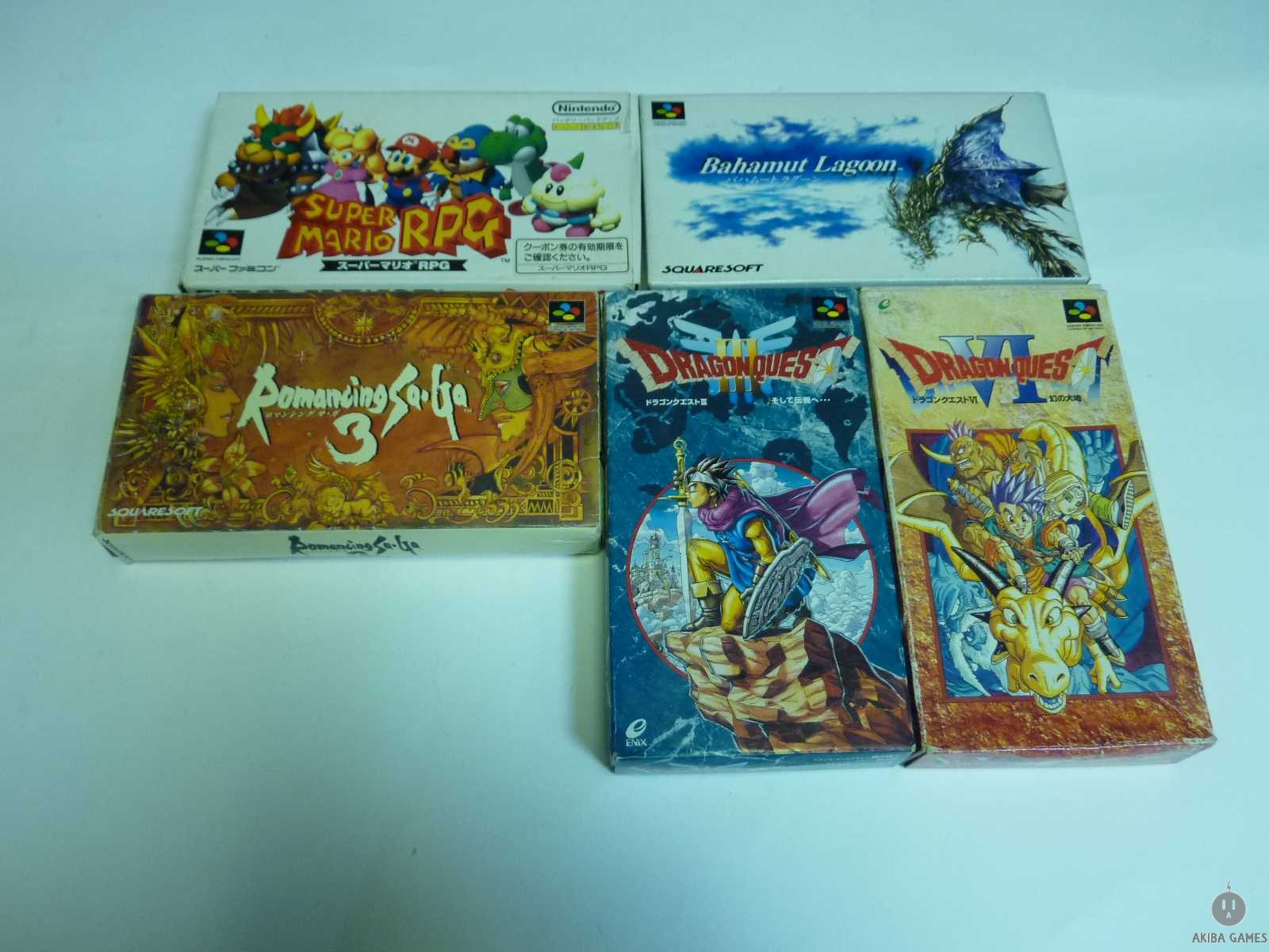 [SFC] Romancing Saga 3...etc 5 Games Set