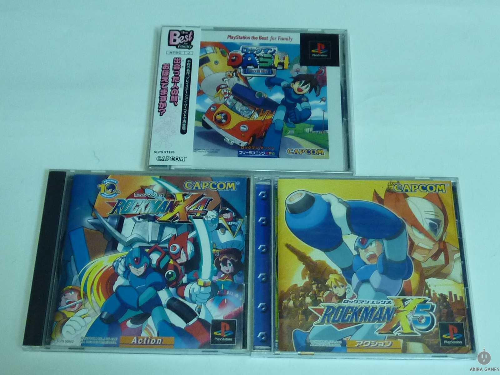 [PS] Playstation the Best for Family - Rockman Dash - Mega Man Legends+X4+X5 Set