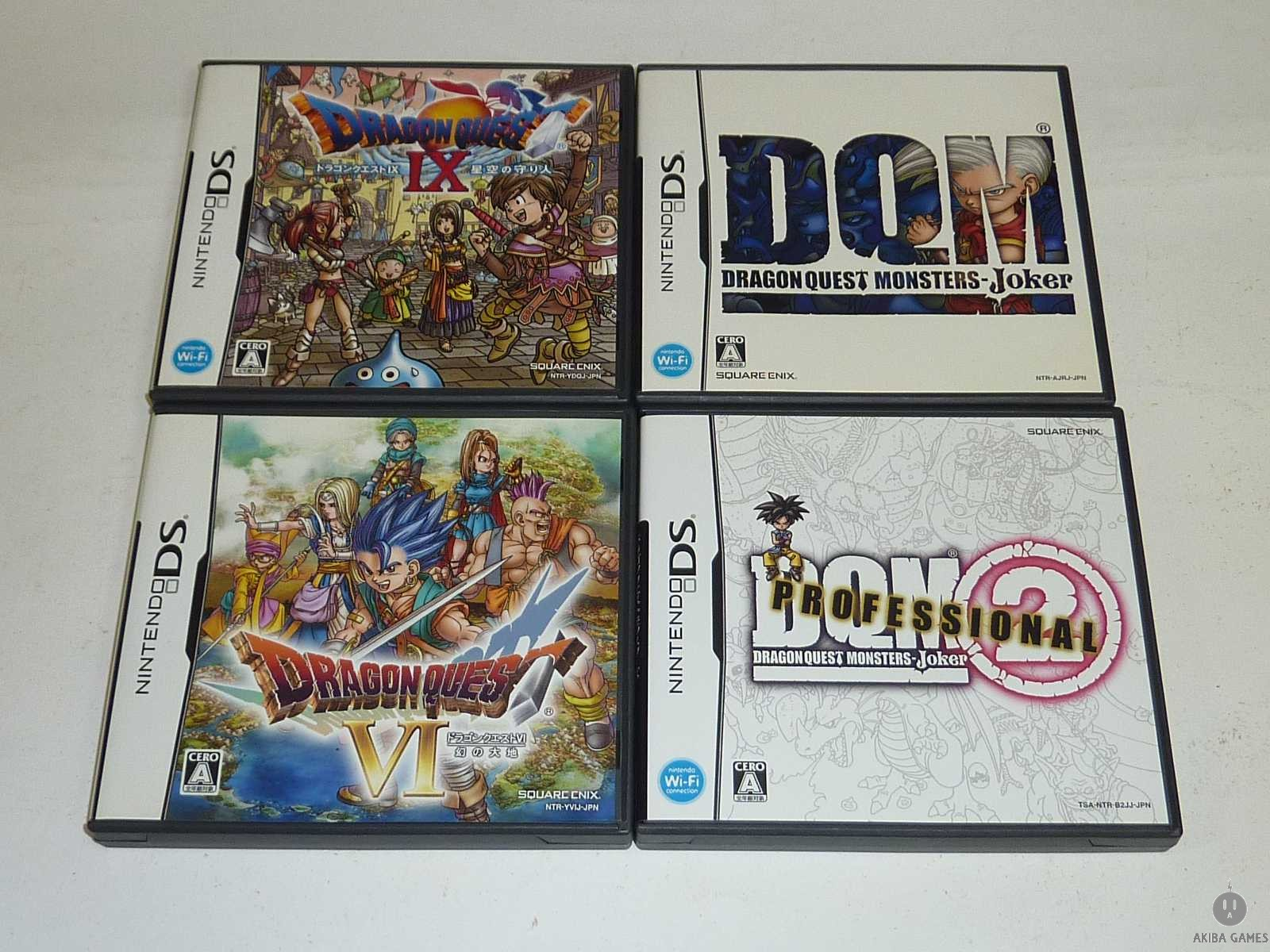 [DS] Dragon Quest (VI+IX+Monster joker1+2) 4 Games Set