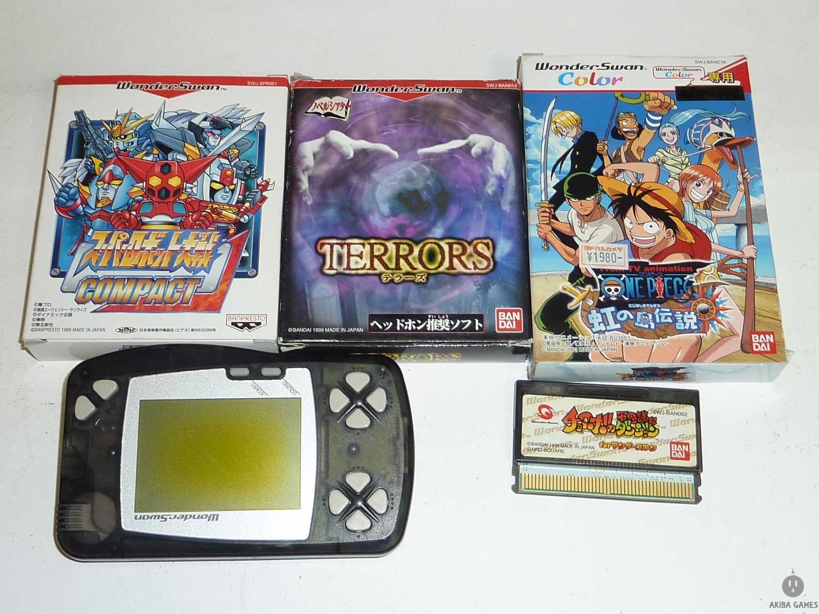 [WS] Console Wonderswan Black+ 4Games Set