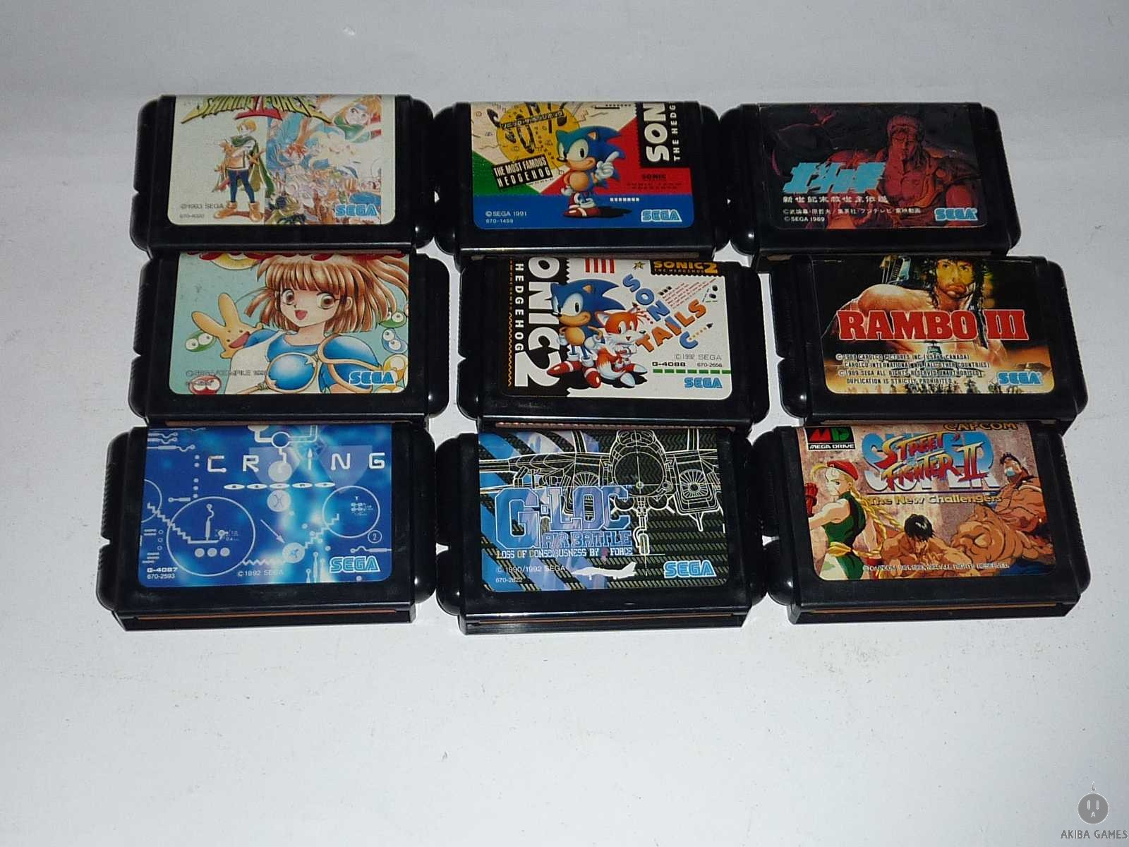 [MD] Sonic,Sonic2...etc 9 Games Set