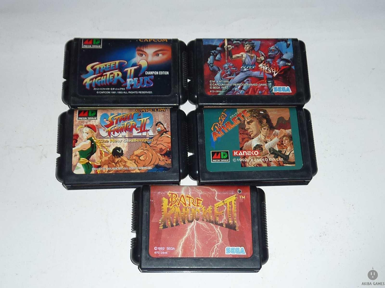 [MD] Super Street Fighter II...etc 5 Games Set  (loose)