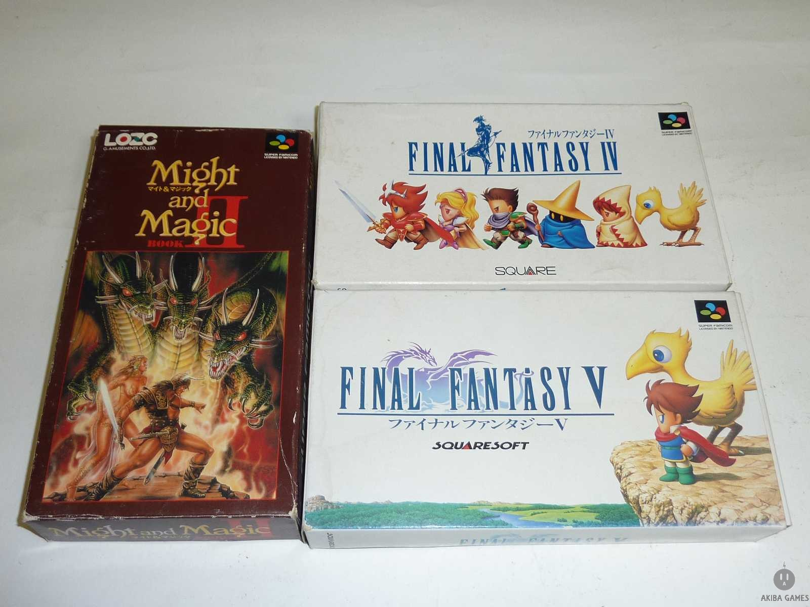 [SFC] Might and Magic Book 2 + FF IV & V Set of 3