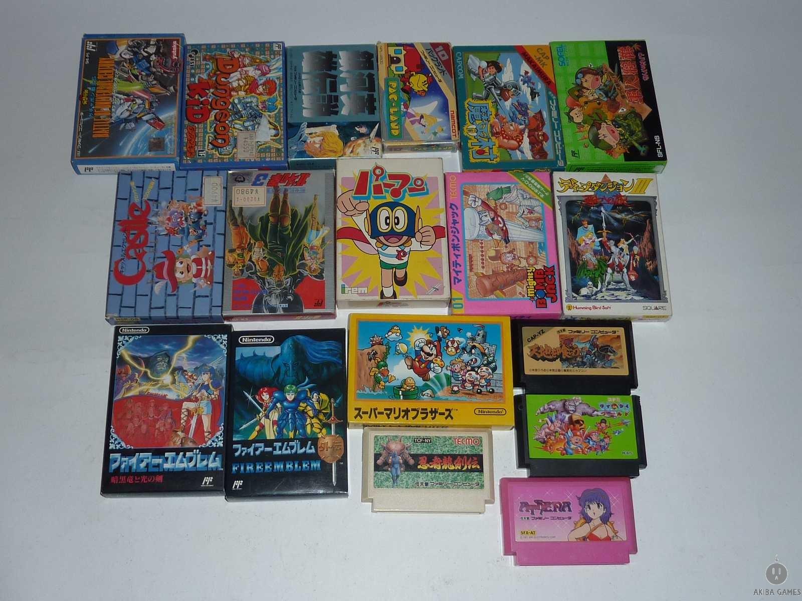 [FC] Ninja Yukenden Athena Super Mario Bros,Pac-land...etc 18 game set Mixed