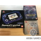 [WS] Console Wonderswan Swan Crystal Clear Blue SCT-001 System+game+headset