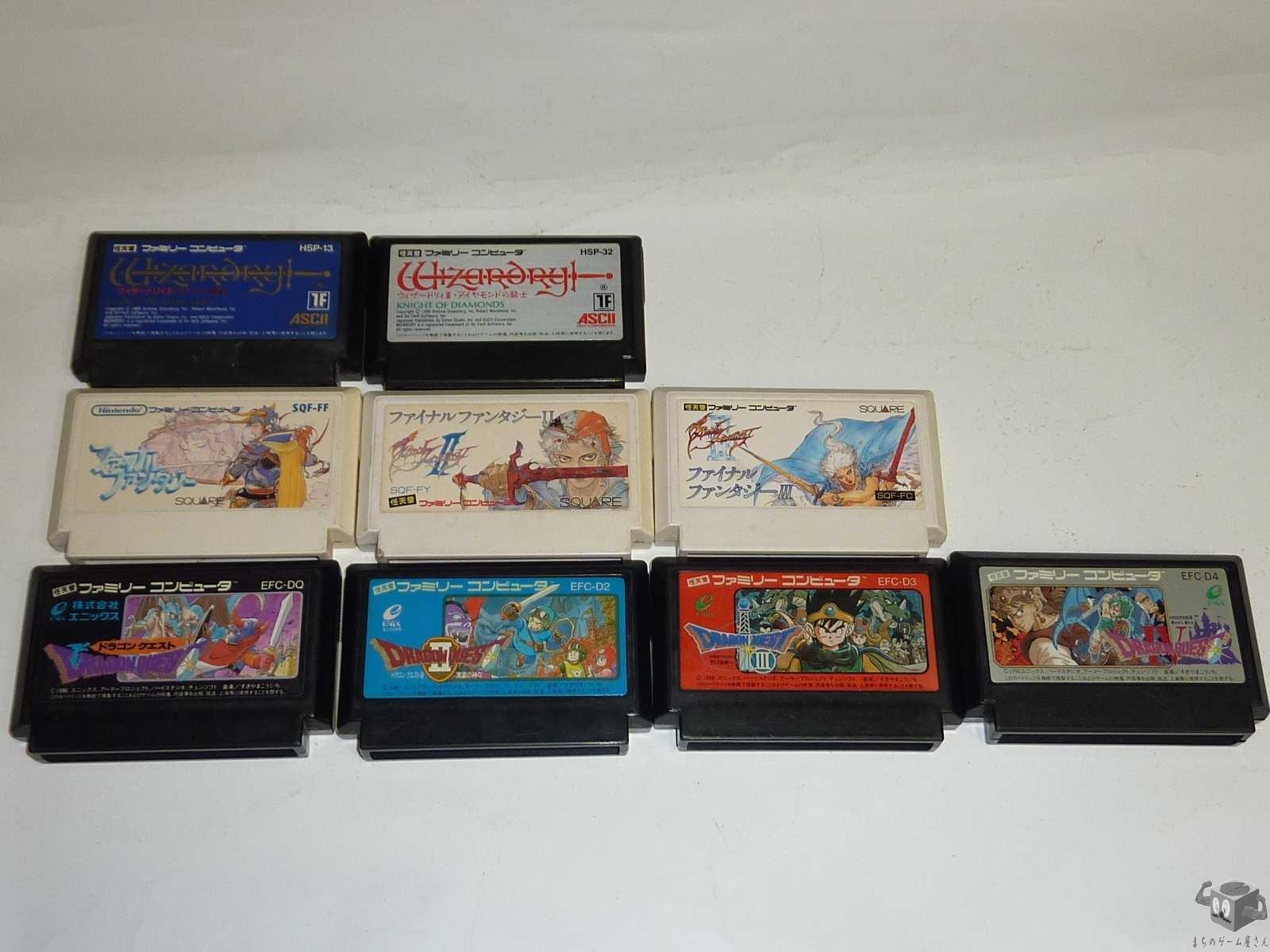 [FC] Dragon Quest I~IV...etc 9 Games Set (loose)