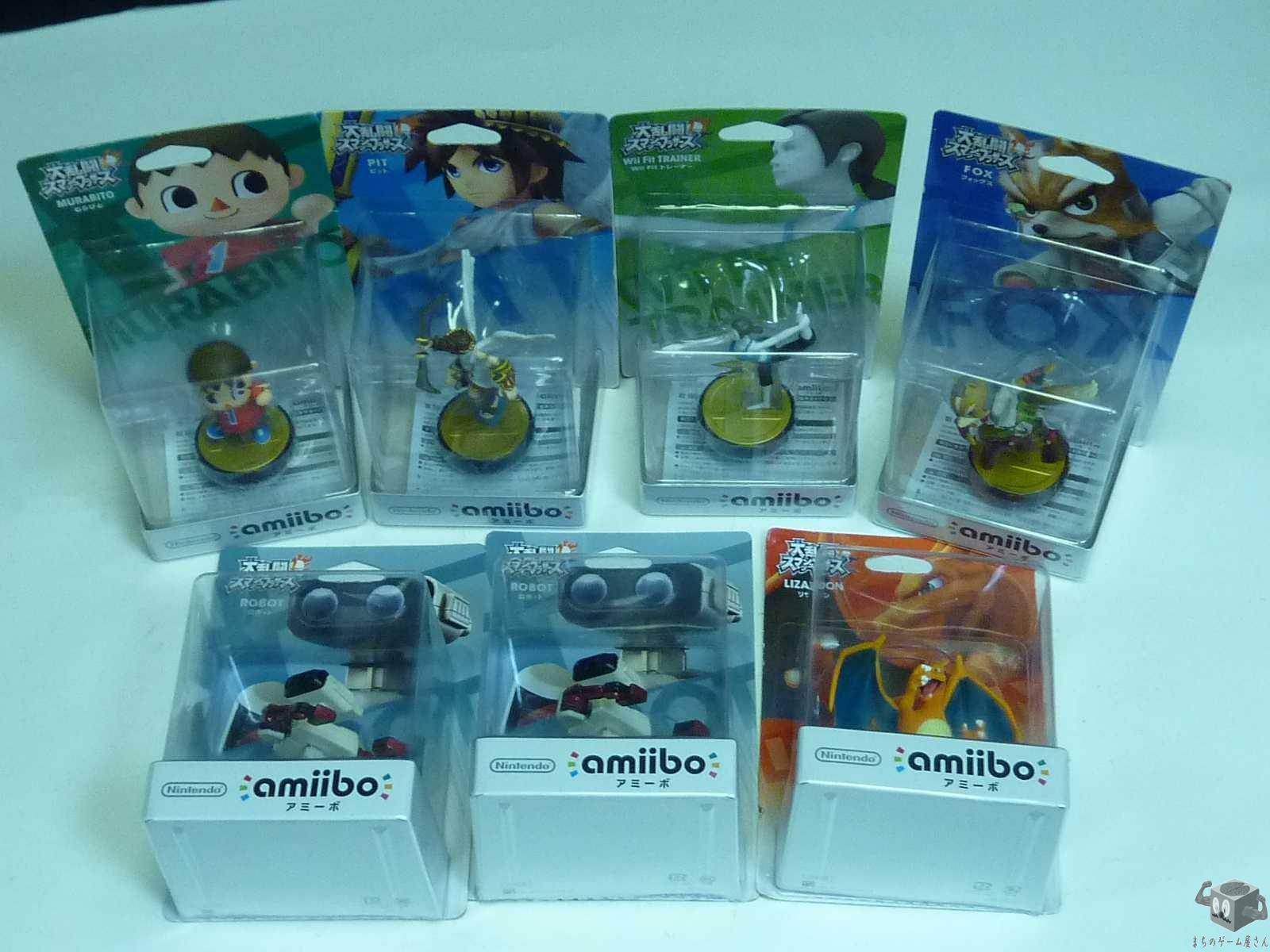Amiibo Figure 7 items set (Sealed)