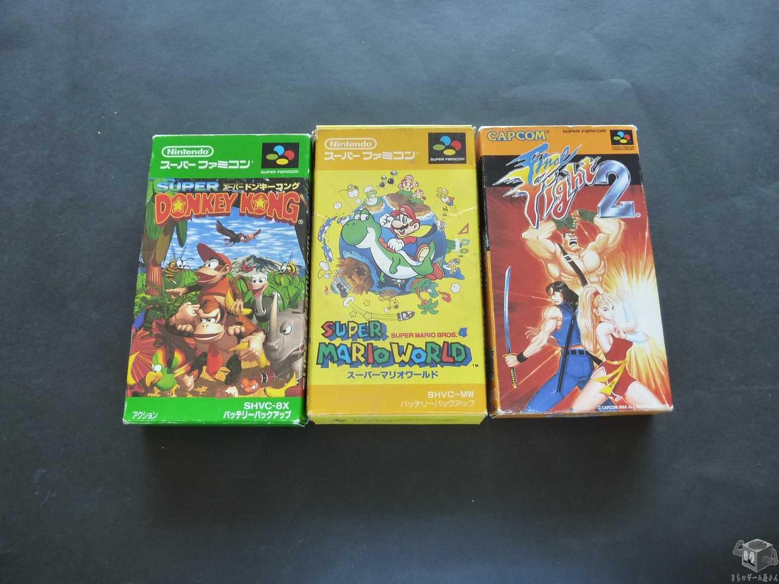 [SFC] Final Fight 2,Super Donkey Kong,Super Mario Bros set of 3 games