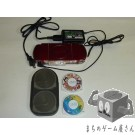 [PSP] Console Playstation Portable Deep Red PSP-1000 System+10 gameset loose