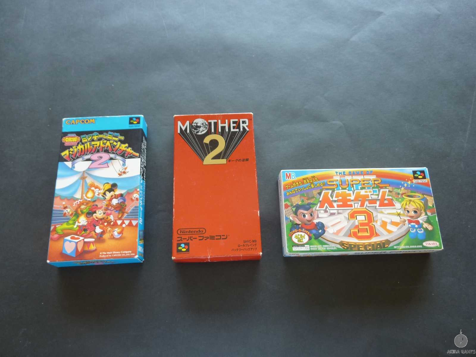 [SFC] Mother 2 - Earth Bound,Mickey To Minnie Magical Adventure 2 set of 3 games