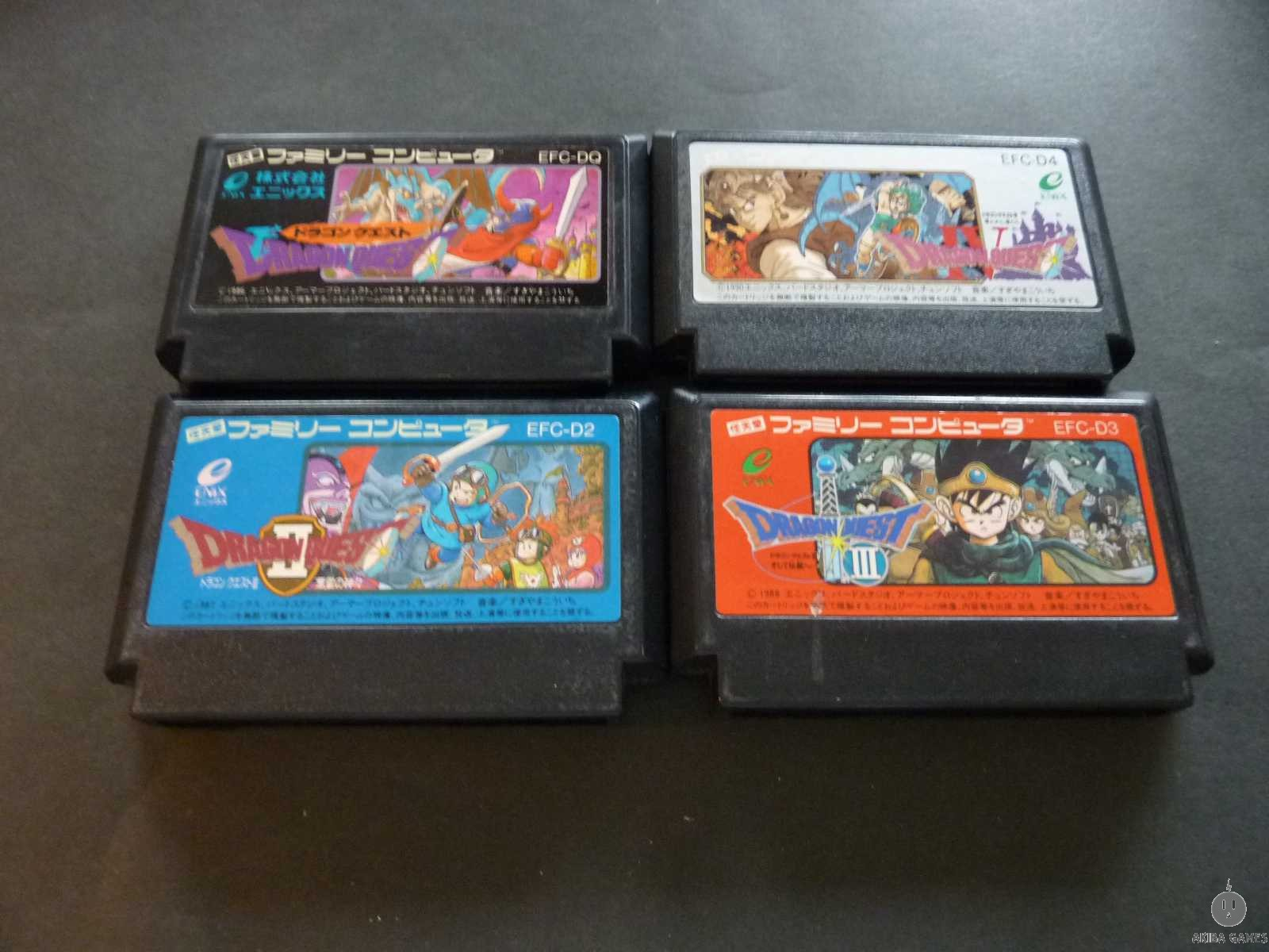 [FC] Dragon Quest I , II ,III ,IV set of 4 games