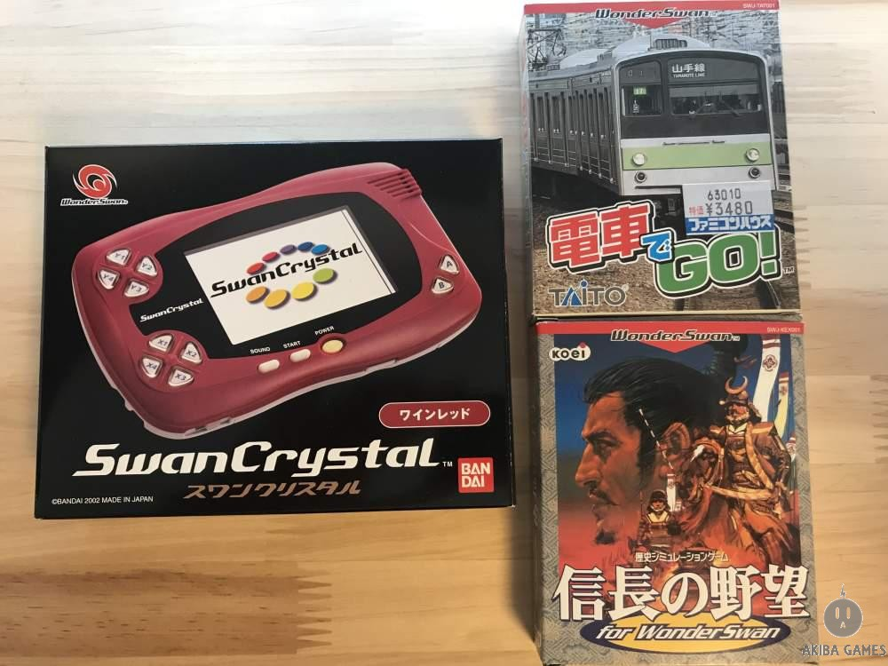 [WS] Console [WS] Console Wonderswan Swan Crystal Wine Red System SCT-001+2games