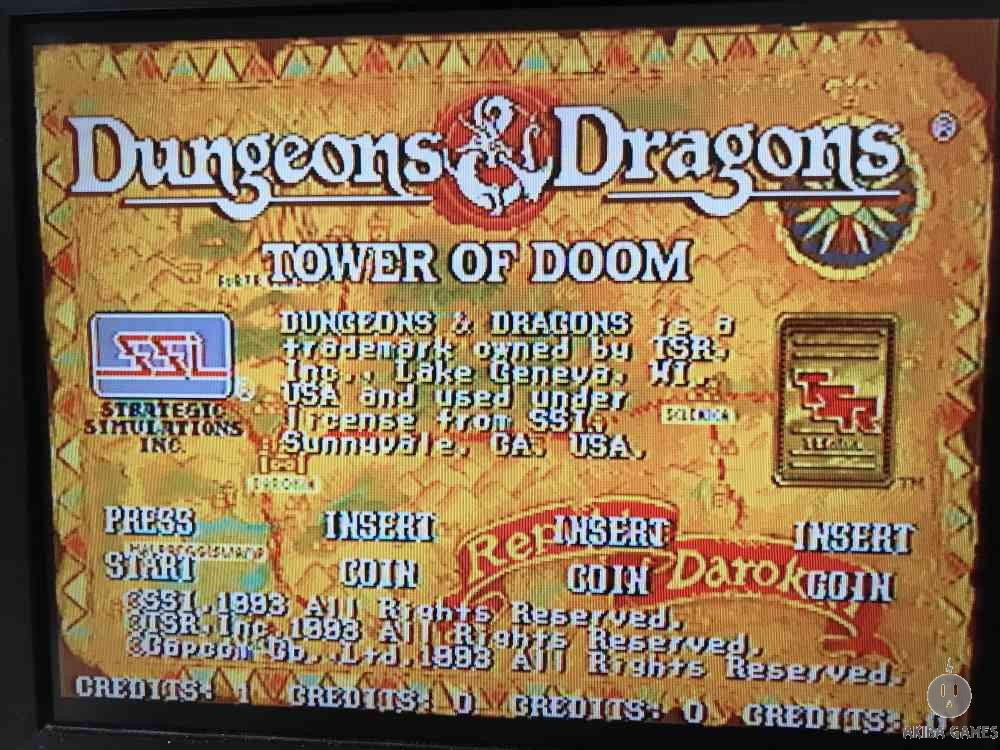Dungeons & Dragons Tower of Doom (Arcade Game)