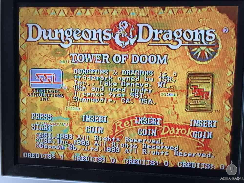 Tower of doom Dungeons & Dragons D&D (Arcade Game)